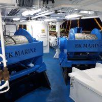 25 ton EKM trawl winches
