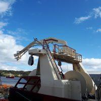 EK Marine Tilting and Swivelling Head Power Block and Fish Pumping Crane