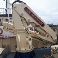 Folding Telescopic Knuckle Boom Crane Killybegs Harbour