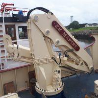 EK Marine Folding Telescopic Knuckle Boom Landing Crane