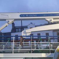 EK Marine Folded Knuckle Boom Crane