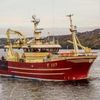 MFV Fiona KIII Equipped with EK Marine Fishing Cranes
