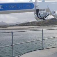 Stiff Boom Marine Harbour Crane